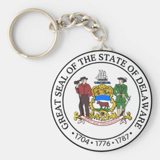 Delaware state seal america republic symbol flag key ring