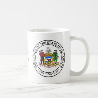 Delaware State Seal and Motto Coffee Mug