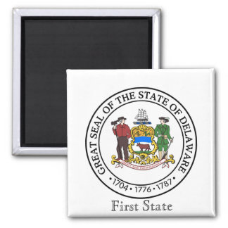 Delaware State Seal and Motto Magnet