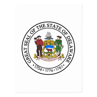 Delaware State Seal and Motto Postcard