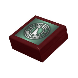 """Delaware Steel"" Keepsake Box (Green)"