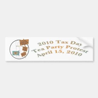 Delaware Tax Day Tea Party Protest Bumper Sticker Car Bumper Sticker