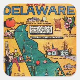 Delaware the Diamond State Square Sticker