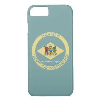 Delaware The First State Personalized Flag iPhone 7 Case