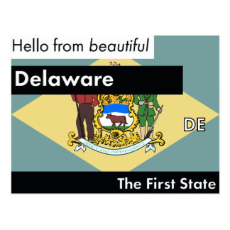 Delaware The First State Postcard