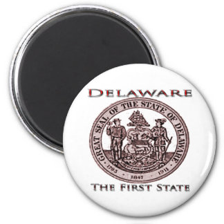 Delaware The First State Seal 6 Cm Round Magnet