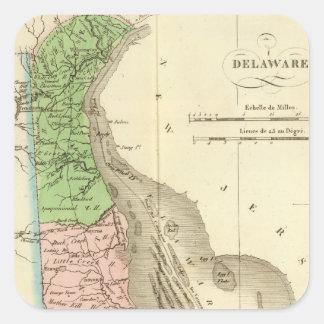 Delaware US Square Sticker