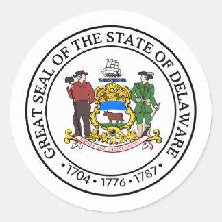 Delaware, USA Classic Round Sticker