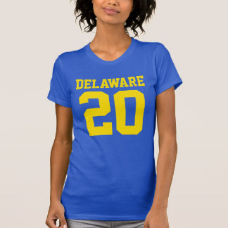 Delaware With Number (Customizable Number) T-Shirt