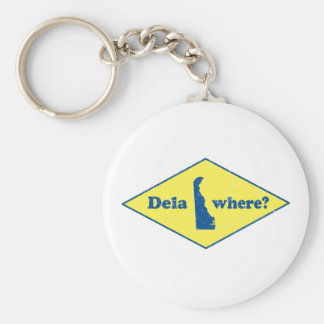 Delawhere? Vintage Delaware Key Ring