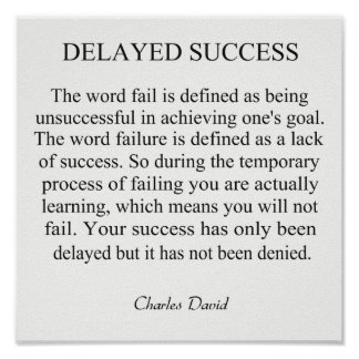 Delayed Success Poster
