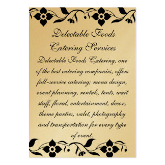 Delectable Foods Business Cards