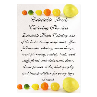 Delectable Foods Business Card