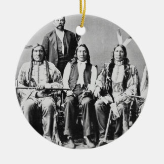Delegation of Sioux chiefs, led by Red Cloud (1822 Round Ceramic Decoration