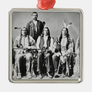 Delegation of Sioux chiefs, led by Red Cloud (1822 Silver-Colored Square Decoration