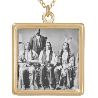 Delegation of Sioux chiefs, led by Red Cloud (1822 Square Pendant Necklace
