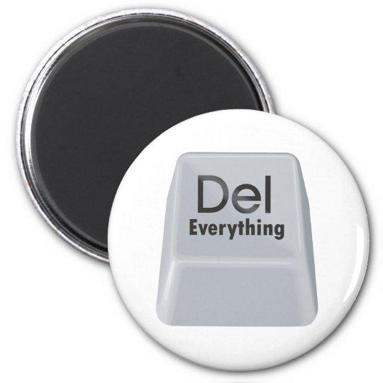 Delete Everything 6 Cm Round Magnet