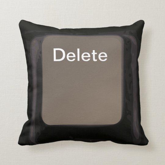 Delete Key / Button Dark Pillow / Cushion