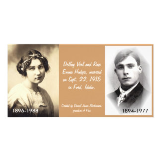Delfay Verl and Rose Emma Hodges Photo Card