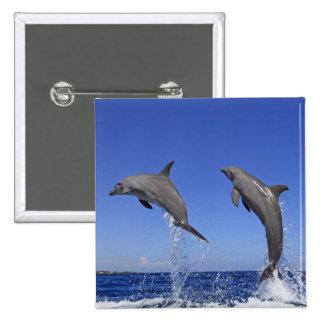 Delfin 2 15 cm square badge