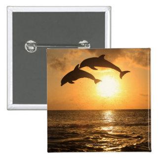 Delfin 3 15 cm square badge