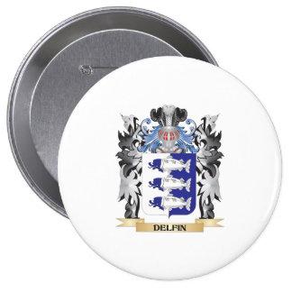 Delfin Coat of Arms - Family Crest 10 Cm Round Badge