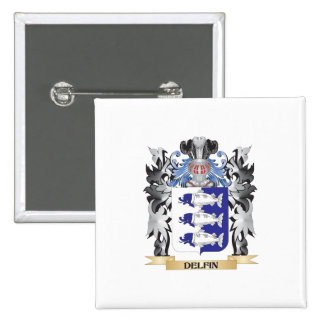 Delfin Coat of Arms - Family Crest 15 Cm Square Badge