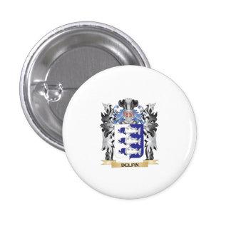 Delfin Coat of Arms - Family Crest 3 Cm Round Badge