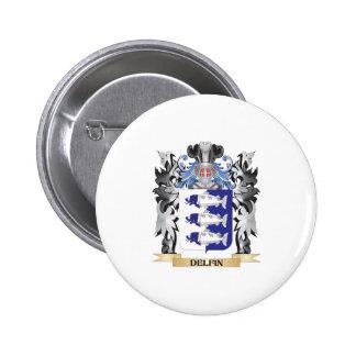 Delfin Coat of Arms - Family Crest 6 Cm Round Badge