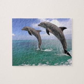 Delfin,Delphin,Grosser Tuemmler,Tursiops 4 Jigsaw Puzzle