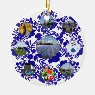 Delft Blue Dutch Delftware Style Holland Christmas Ornament