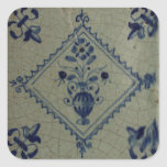 Delft Blue Tile - Vase with Flowers and Bouquet Sticker