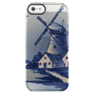 Delft Blue Windmill Vintage Clear iPhone SE/5/5s Case