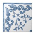 Delft Floral Corner Ceramic Tile