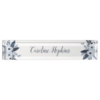 Delft Floral Name Plate