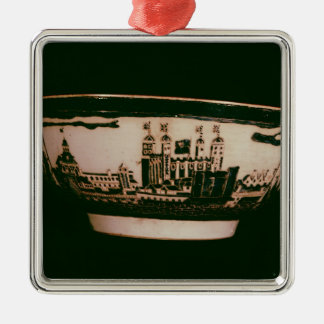Delft plate with views of the Tower of London Christmas Ornament