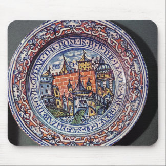 Delft plate with views of the Tower of London Mouse Mat