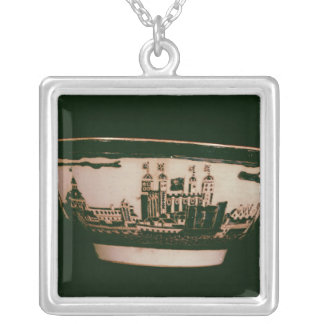 Delft plate with views of the Tower of London Silver Plated Necklace