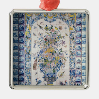Delft tile panel from the bathroom christmas ornament