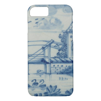 Delft tile showing a drawbridge over a canal, 19th iPhone 7 case