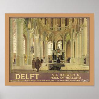 Delft - via Harwich & Hook of Holland Poster