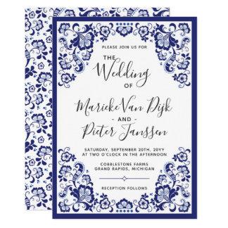 Delfts Blauw | Delft Blue Dutch Wedding Invitation