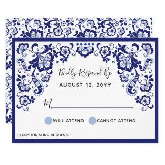 Delfts Blauw | Delft Blue Dutch Wedding RSVP Card
