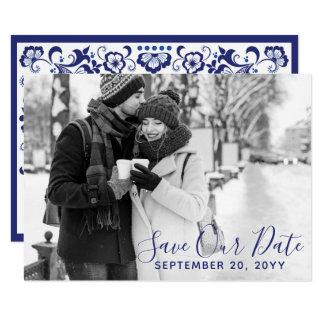 Delfts Blauw | Delft Blue Save The Date Photo Card