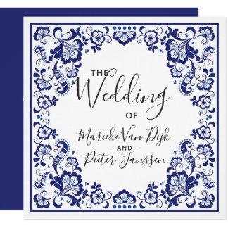 Delfts Blauw | Delft Blue Tile Wedding Invitation