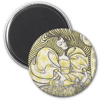 Delftsche Slaolie 6 Cm Round Magnet