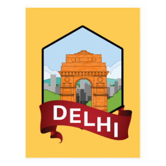 Delhi India Gate Postcard