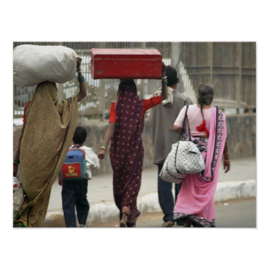 Delhi Luggage Poster