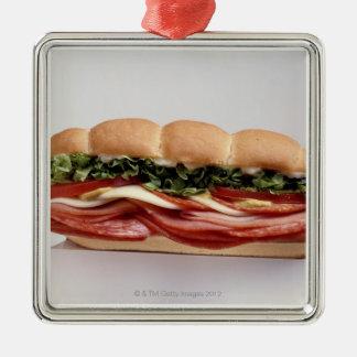 Deli sandwich christmas ornament