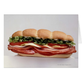 Deli sandwich greeting card